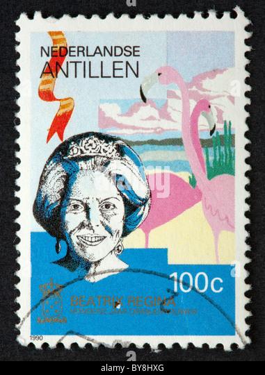 Niederländische Antillen-Briefmarke Stockbild