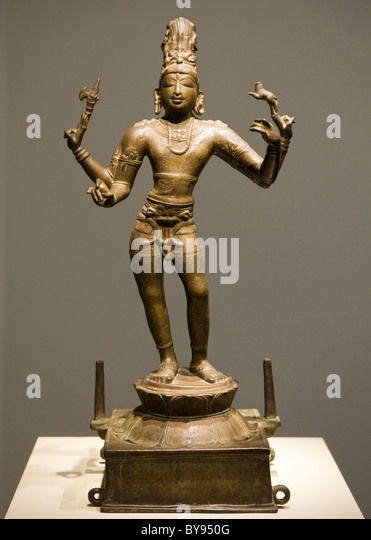 Bronzeskulptur von Shiva Vinadhara - Indien, ca / 950 (Chola Dynastie) Stockbild