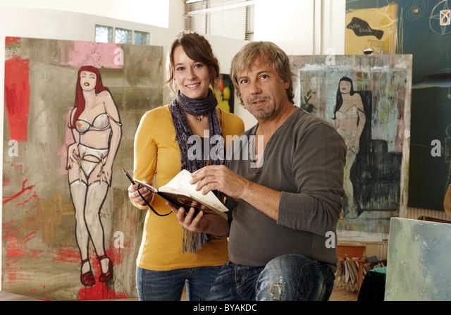 Künstler-Assistent Stockbild