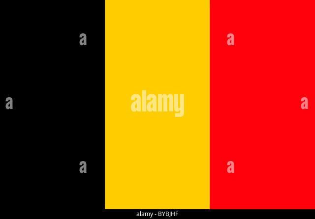 Belgien-Flagge-Abbildung Stockbild