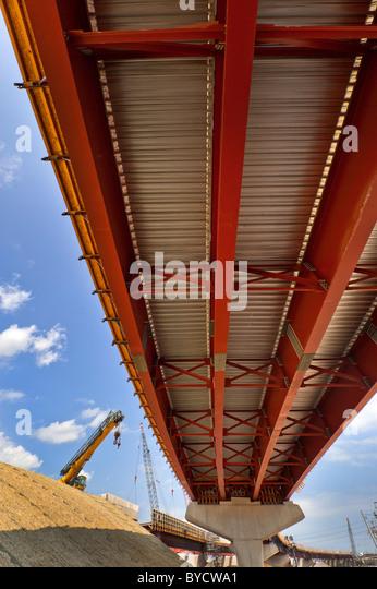 Autobahn-Infrastrukturbau, i-95, New Haven, CT. Stockbild