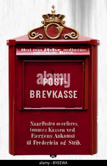 Veraltete dänischen Briefkasten Stockbild