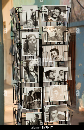 Kuba. Postkarten von Che Guevara. Stockbild