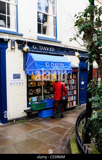 G.David antiquarische Bücher, Buchhandlung, St. Edwards Passage, Cambridge, England, UK Stockbild