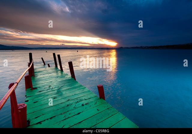 Bucht von Santander (Nordspanien) Stockbild