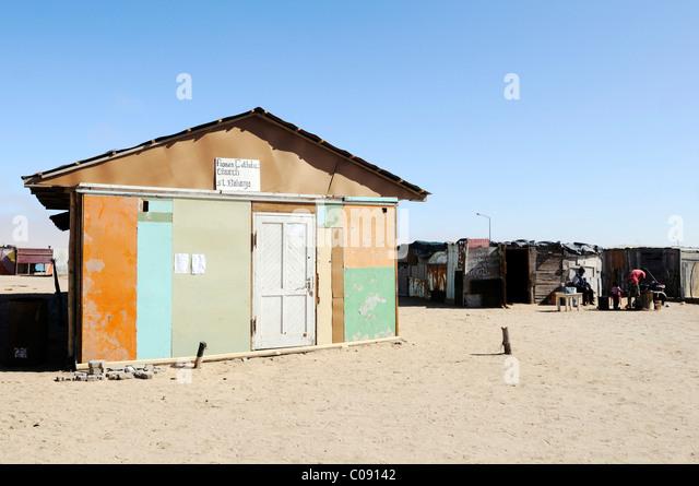 Katholische Kirche in Mondesa Township, Swakopmund Stadt, Namibia, Afrika Stockbild