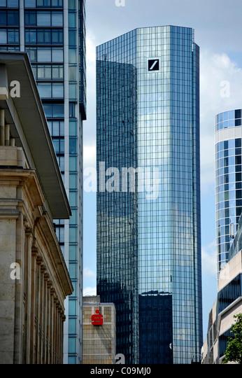 Deutsche Bank Zentrale Deutsche Bank Zentrale Wolkenkratzer, Financial District, Frankfurt Am Main, Hessen, Deutschland, Stockbild