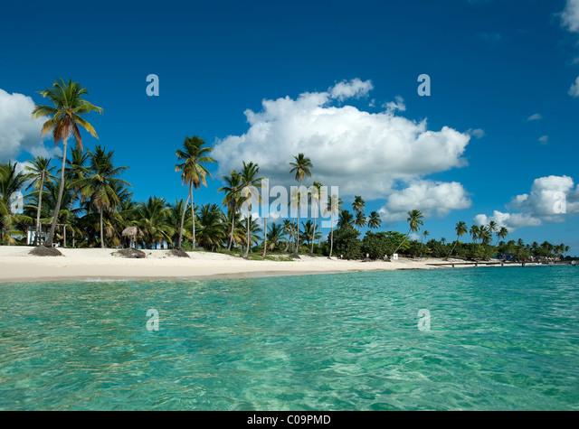 Strand von Bayahibe, Dominikanische Republik Stockbild