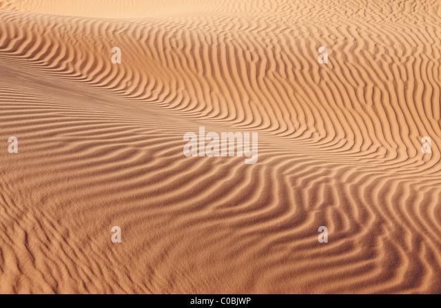 Komplizierte Kurven der Sand Wellen auf den Sand Dünen U.S. Stockbild