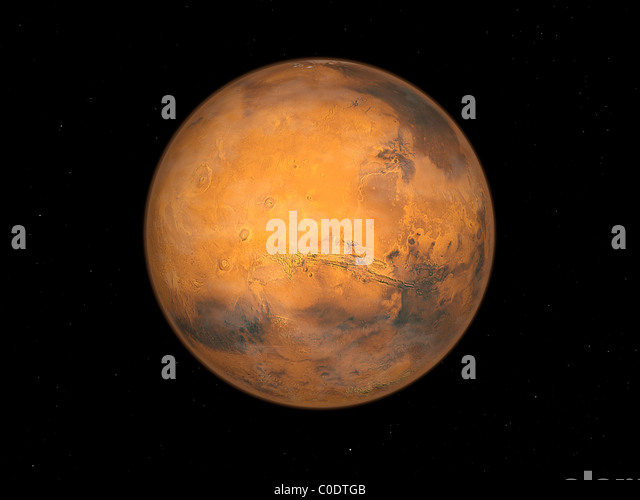 Planet Mars Stockbild