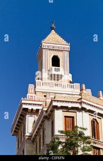Barcadi Turm, Havanna Vieja, Kuba Stockbild