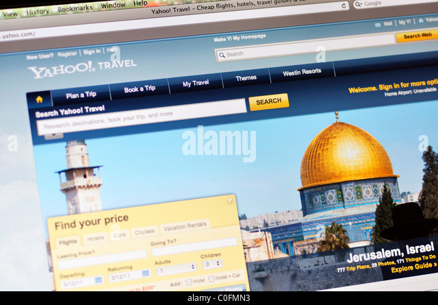Yahoo-Reise-website Stockbild