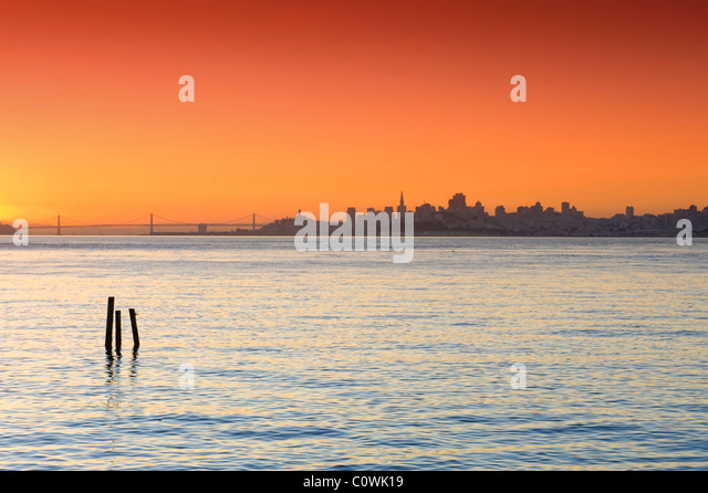 USA, Kalifornien, San Francisco, Skyline der Stadt Stockbild