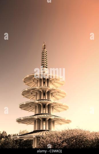 USA, Kalifornien, San Francisco, Japantown, Friedenspagode Stockbild