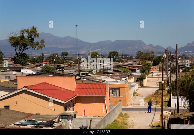 Nyanga Township in Kapstadt, Westkap, Südafrika, Afrika Stockbild