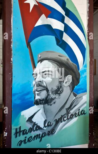 Che Guevara Malerei, Kuba Stockbild
