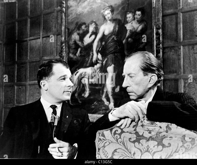J. Paul Getty und Lee Bailey, 1967 Stockbild