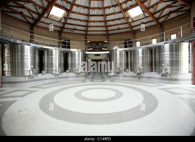 Weinbau-Anlage in Bordeaux Stockbild