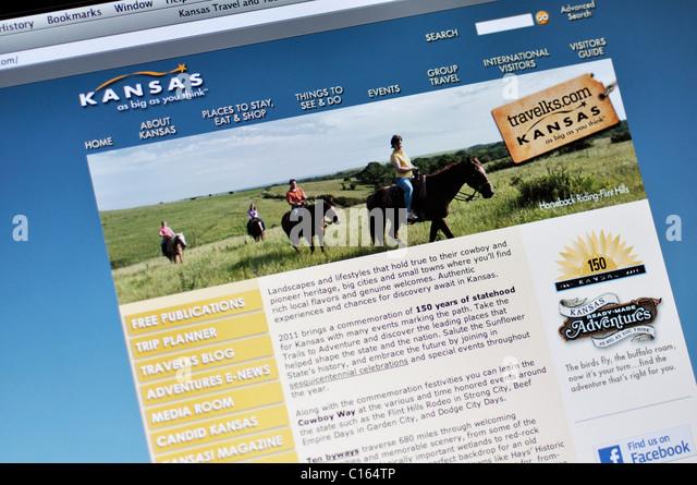 Kansas offizielle Tourismus-website Stockbild