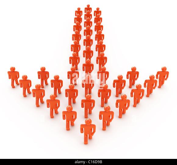 Teamarbeit-Konzept isoliert auf weiss Stockbild