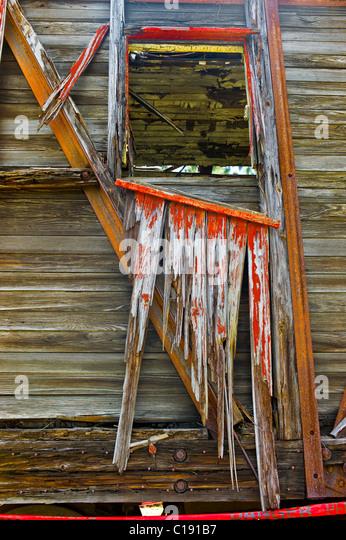 Zerrissene Wagen. Das Gold Coast Railroad Museum Stockbild