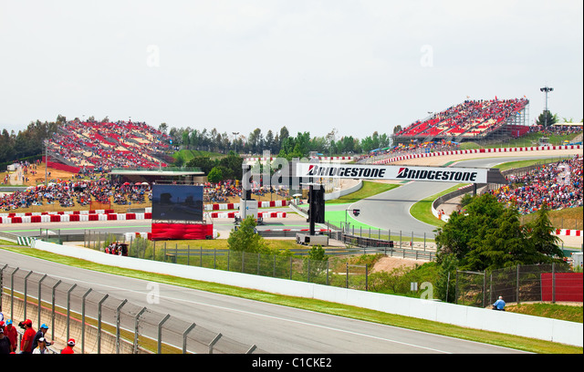 """Autodrom """"Catalunya Montmello"""" vor Beginn der Phase des Rennens am 9. Mai 2010 in Barcelona, Spanien Stockbild"""