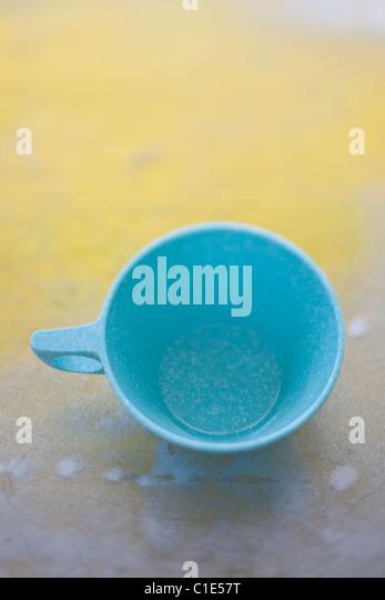Mel Mac Jahrgang Kaffee Tasse Stockbild