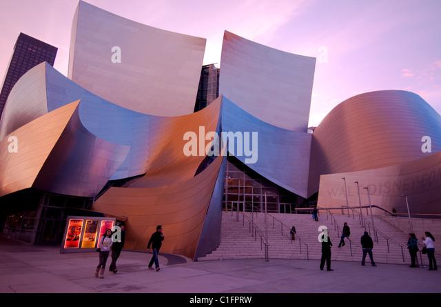 Architekt Gehrys Disney-Konzerthalle in der Innenstadt von Los Angeles südliche Kalifornien USA Stockbild