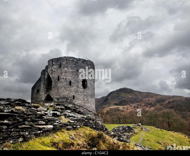 Dolbadarn Burg Stockbild