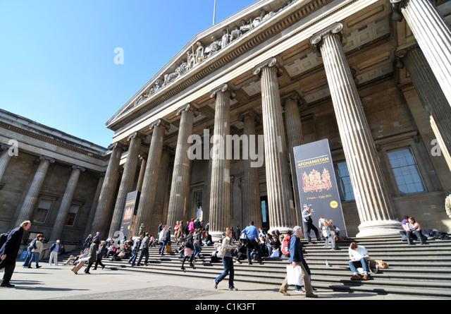 Das British Museum Touristen und Besucher Museum der antiken Kulturen Touristenattraktion Stockbild