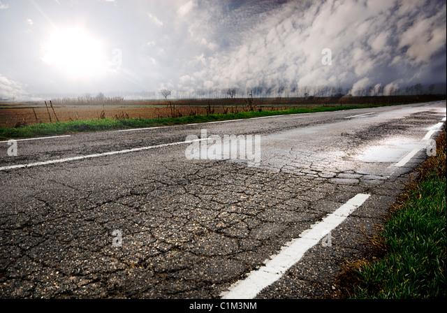 schöne Straße in Ländliches Motiv Stockbild
