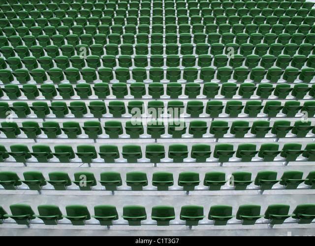 Stadionbestuhlung Stockbild