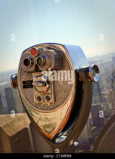 Amerikanische Städte, New York City Sightseeing Viewer. Stockbild