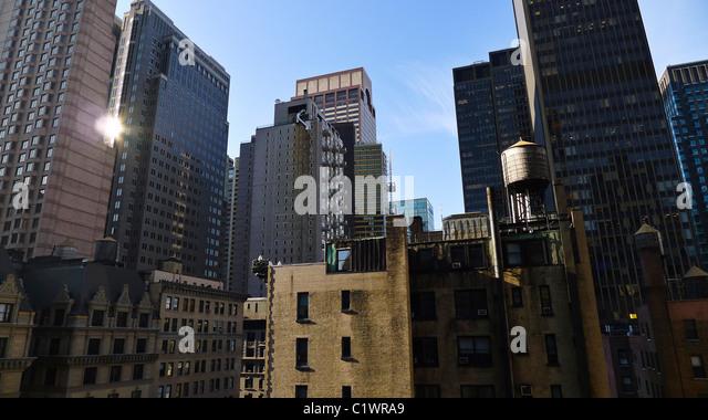 Amerikanische Städte, New York City Architektur, USA. Stockbild