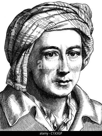 Verbesserte Digitalbild von Johann Joachim Winkelmann, Antiquar und Kunsthistoriker, 1717-1768, historische Illustration, Stockbild