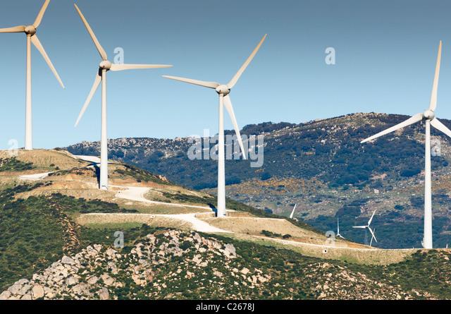 Windpark Mühle Stockbild
