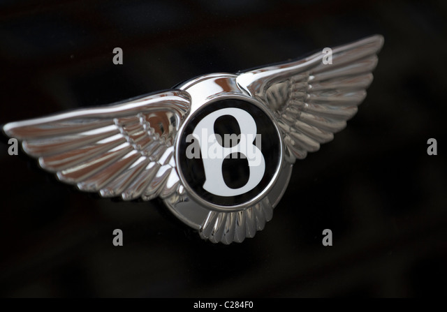 Bentley-Auto-Plakette Stockbild