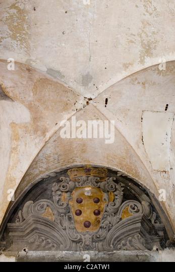 Kreuzgewölbe Stockbild