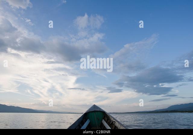 Boot am Inle-See, Myanmar Stockbild
