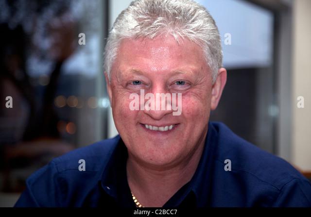 Komiker und BBC radio Persönlichkeit Sean Stile, Liverpool Stockbild
