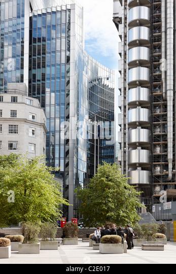 Der Londoner Gebäude Lloyds building Stockbild