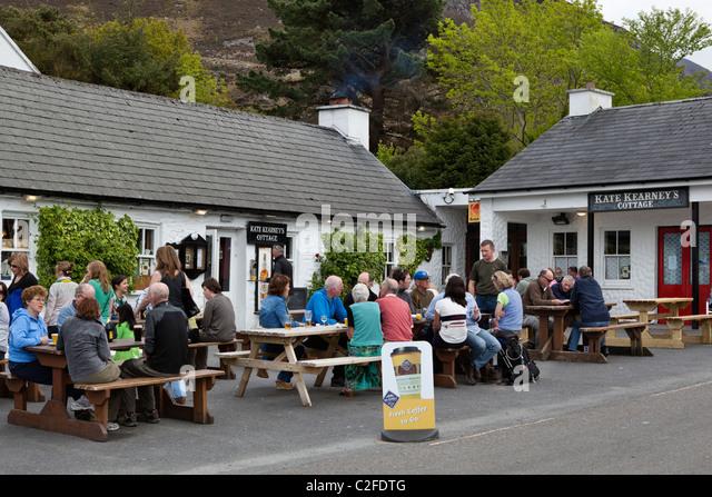 Die Gap of Dunloe. Kearney Cottage pub Stockbild