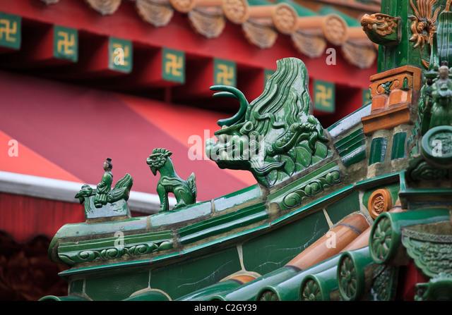 Singapur, Chinatown, Kwan Im buddhistischen Tempel Stockbild