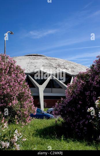 Palazzetto Dello Sport, Rom. Sportpalast, Rom. Eine Stahlbeton-Kuppel. Stockbild