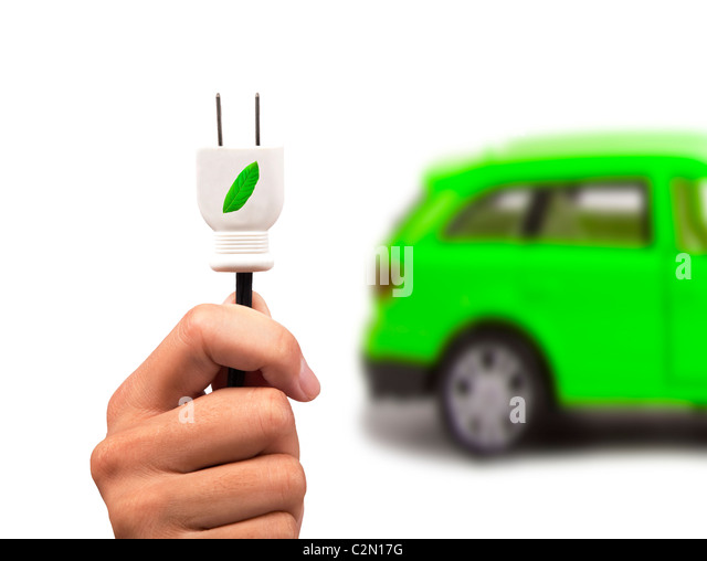 Elektroauto und grünen Auto-Konzept Stockbild