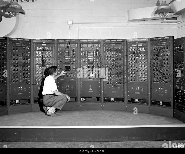 Analog Computing-Maschine, eine frühe Version des modernen Computers. Stockbild