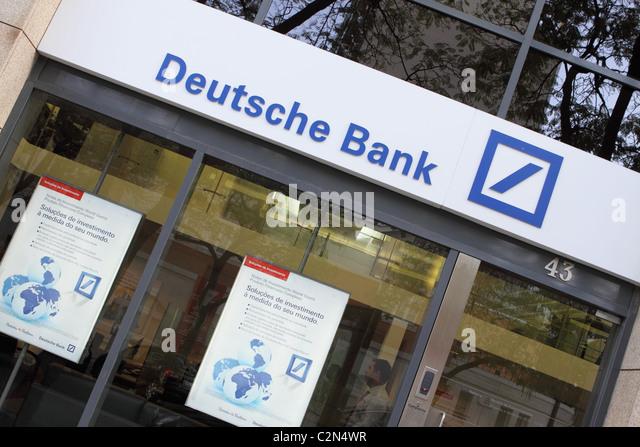 Filiale der Deutschen Bank banking Stockbild