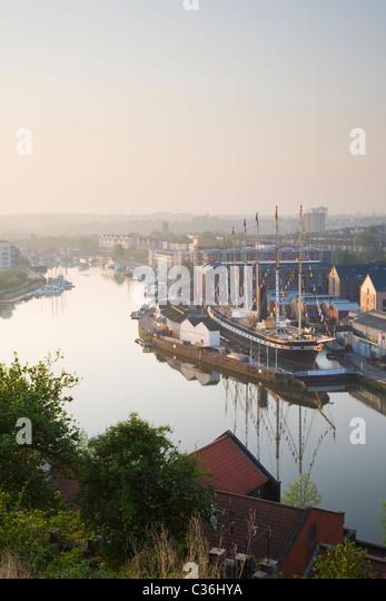 Bristol Floating Harbour und die SS Great Britain. Bristol. England. VEREINIGTES KÖNIGREICH. Stockbild