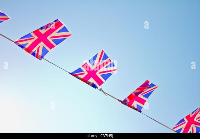 Großbritannien Fahne Wimpel. Stockbild