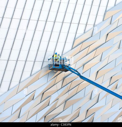 Bau der Titanic Museum, Belfast Stockbild